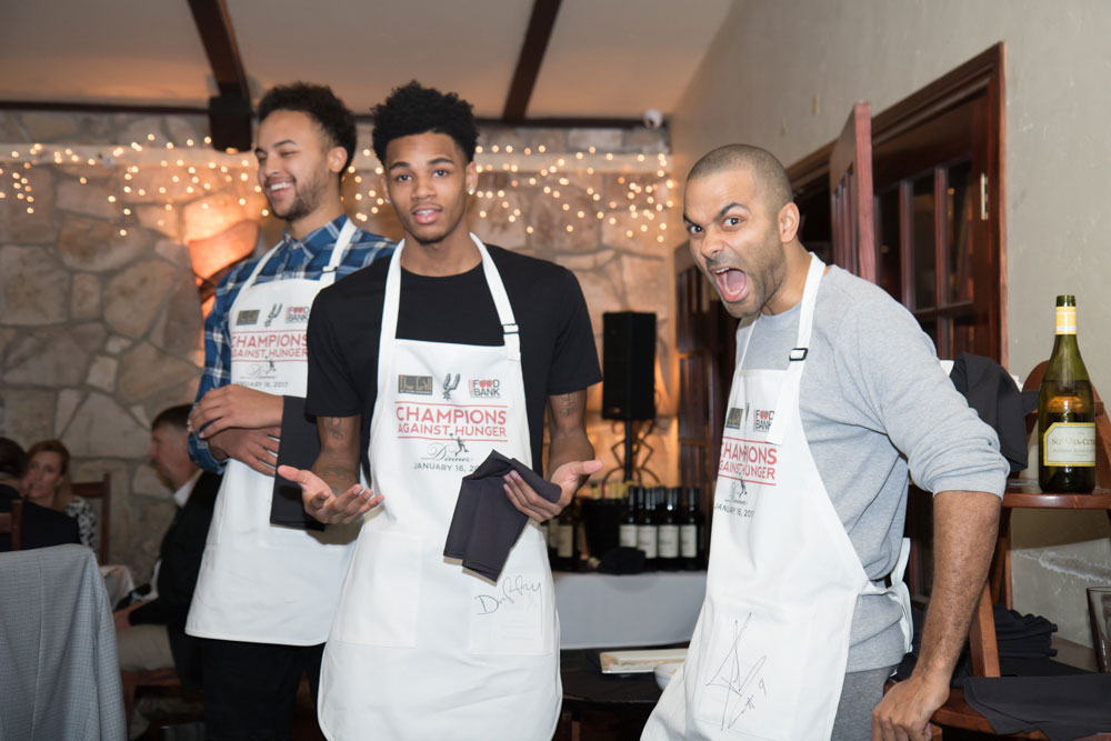 Champs Against Hunger San Antonio Spurs Food Bank Wedding Photographer